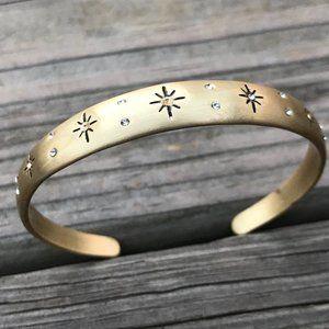 Lucky Brand Women Bracelet Gold Tone Crystal Star